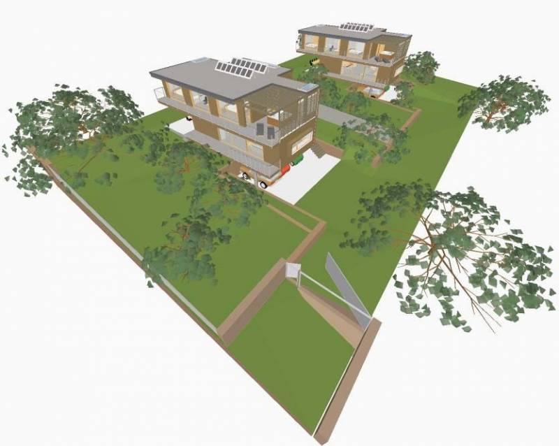 Casa de arquitectura moderna y materialidad sustentable