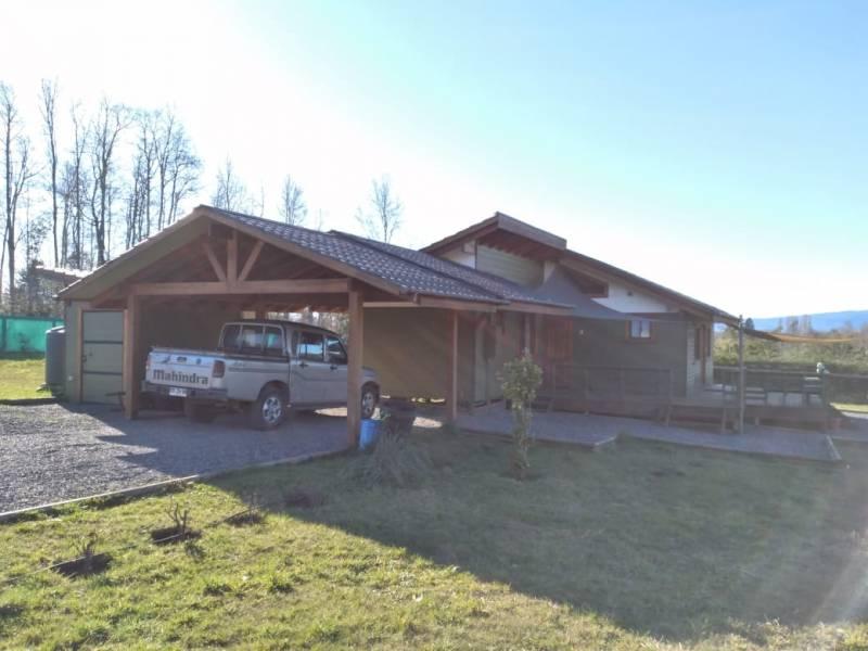 Casa nueva en parcela con vista al volcán