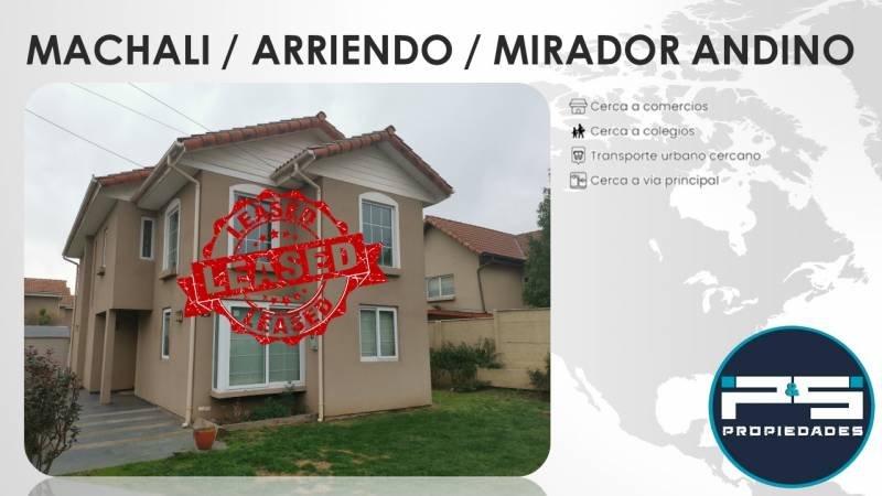 EXCLUSIVA Y HERMOSA CASA EN MIRADOR ANDINO