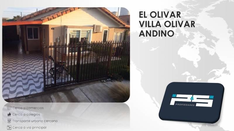 HERMOSA CASA EN EL OLIVAR / VILLA EL OLIVAR ANDINO