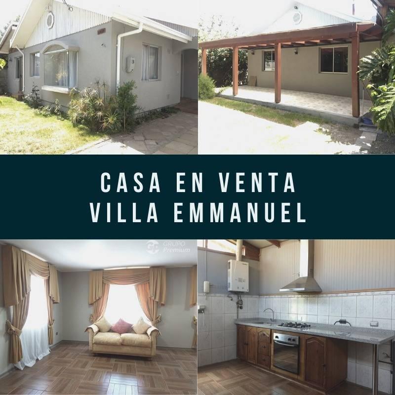 Se vende espectacular casa en Villa Emmanuel de chillan!