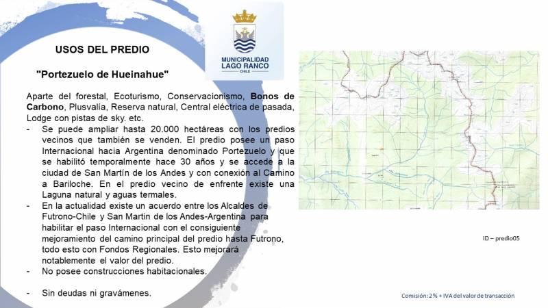 4.500 HECTAREAS EN HUEINAHUE