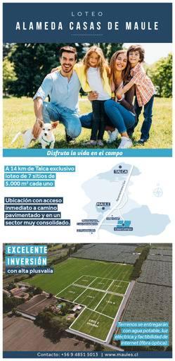 SOLO 7 PARCELAS  MUY CERCA DE TALCA