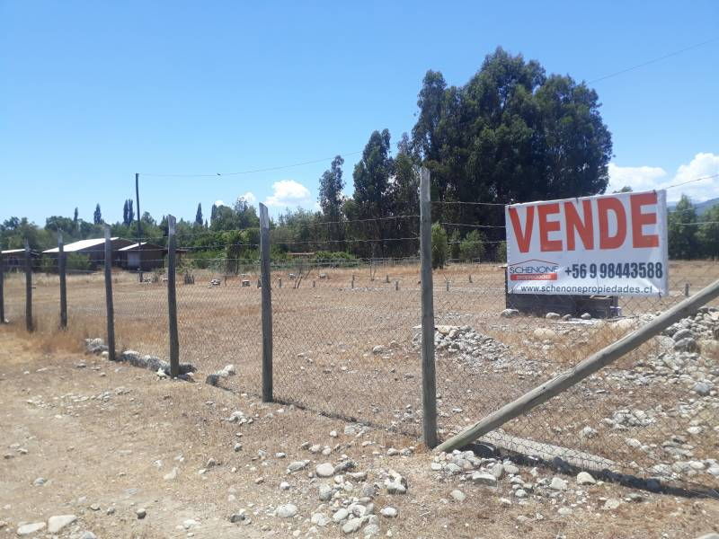 Parcela con cabaña en villa los Jardines de Ancoa