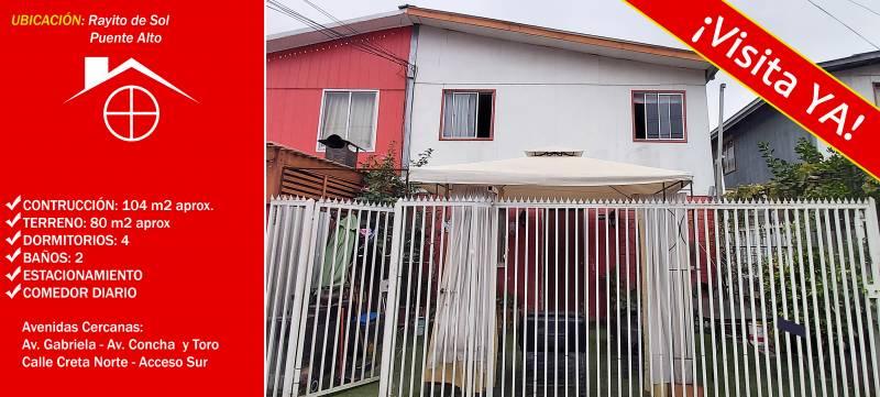 CASA EN VENTA - 3 DORMITORIOS, 2 BAÑOS  |PUENTE ALTO.