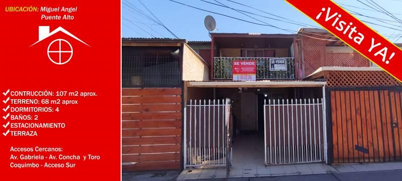 EXCLUSIVO CASA EN VENTA - 4 DORMITORIOS, 2 BAÑO |PUENTE ALTO