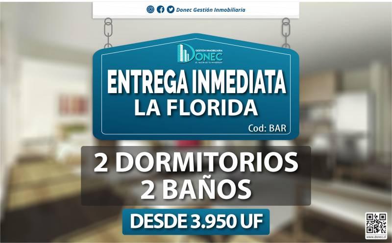 DEPARTAMENTOS NUEVOS LA FLORIDA 2D+2B - ENTREGA INMEDIATA