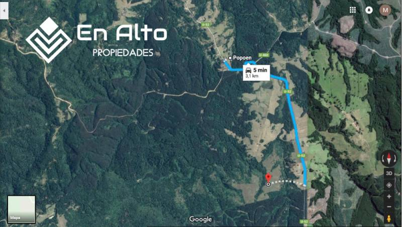 3 TERRENOS COLINDANTES 42,14 HÁ C/U A 3 KM POPOEN LOS LAGOS