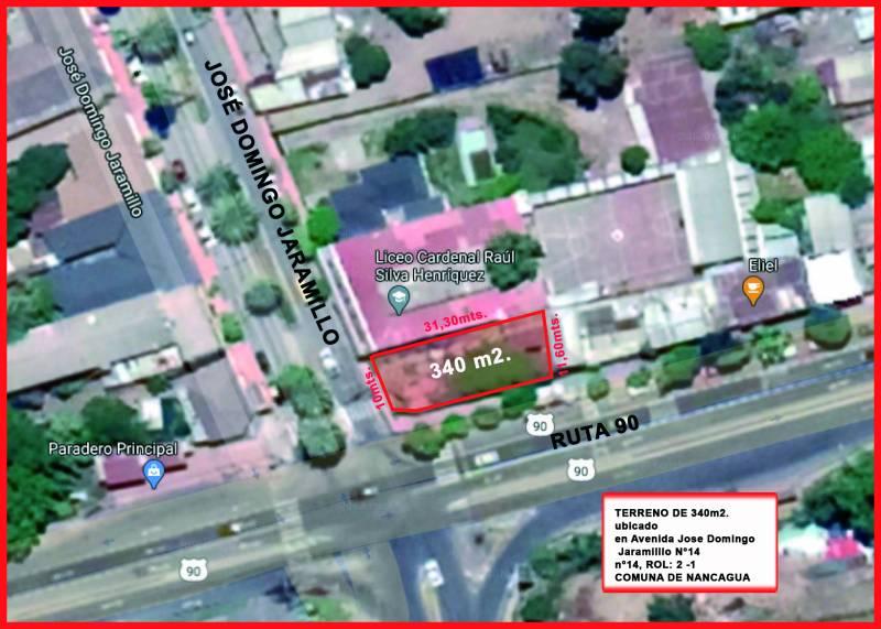 Vendo terreno de 340 m2 esquina con proyecto .Nancagua.