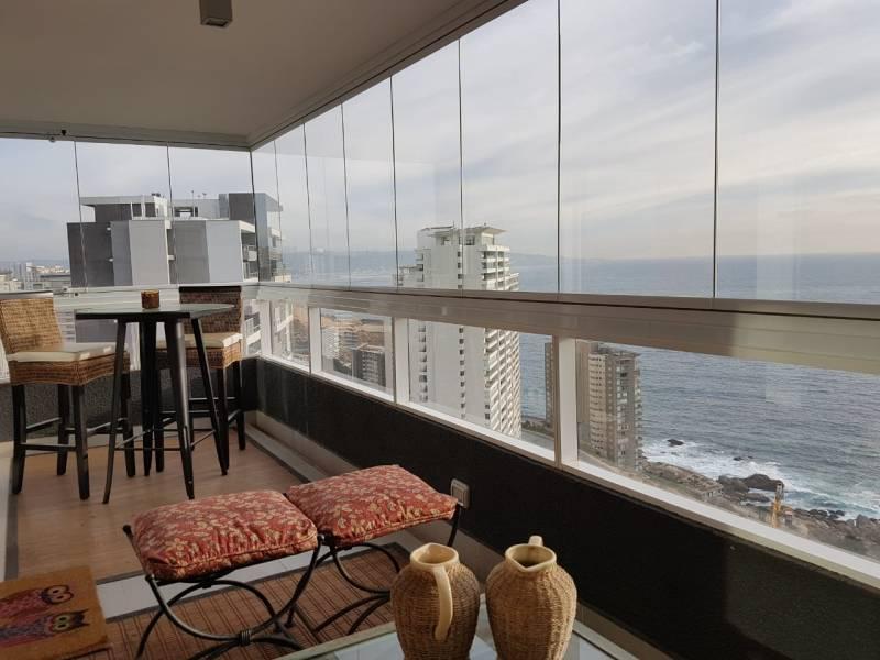 Concon Costa de Montemar departamento en venta 3d +2b, vista