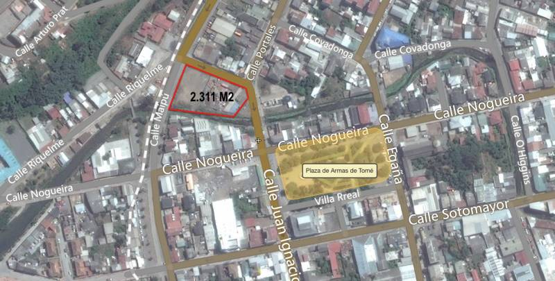 OPORTUNIDAD!!, GRAN TERRENO DE 2.311 M2 EN EL CENTRO DE TOMÉ