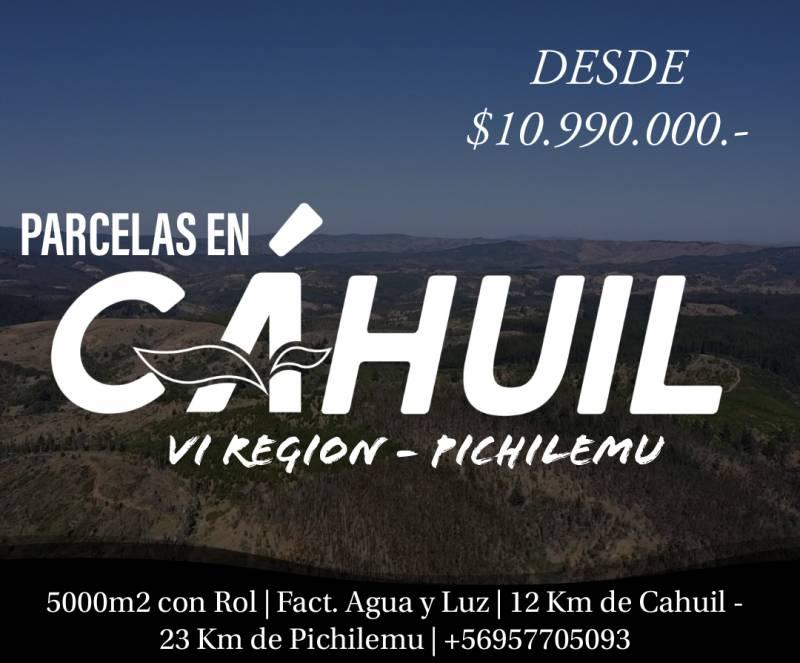 CAHUIL | OPORTUNIDAD ÚNICA VENTA PARCELAS A 12KM COSTA
