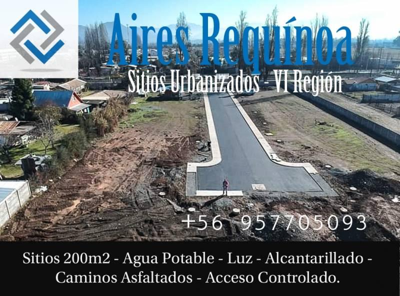En Venta Sitio Urbano 200m2 en Requínoa, pasos Centro y 5Sur