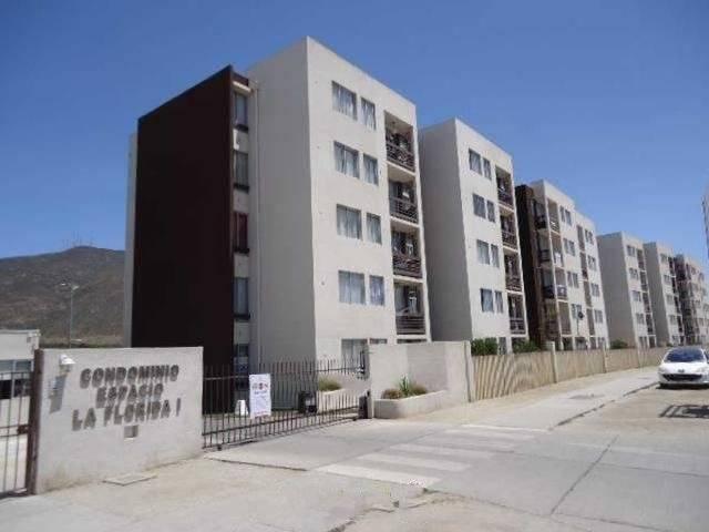 Depto 4º piso, 3 dor/1 baño, sup. 55m2, La Florida, Serena