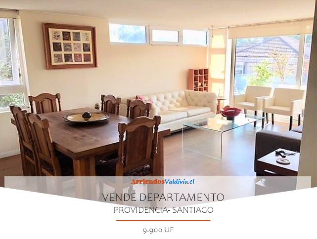 VENDO DEPARTAMENTO 3D/3B/2E PROVIDENCIA SANTIAGO