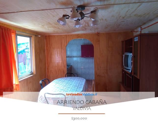 ARRIENDO CABAÑA AMOBLADA 2D/1B   VALDIVIA
