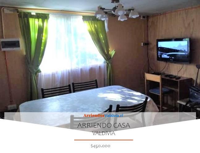 ARRIENDO CASA AMOBLADA 4D/1B VALDIVIA