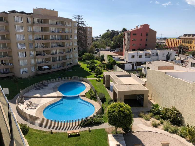 Arriendo departamento amoblado condominio Valle Azapa