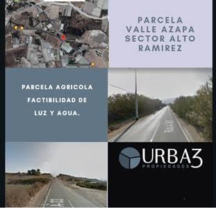Venta parcela de agrado en sector Alto Ramirez, Valle Azapa
