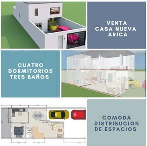 Venta casa nueva cuatro dormitorios tres baños, Arica