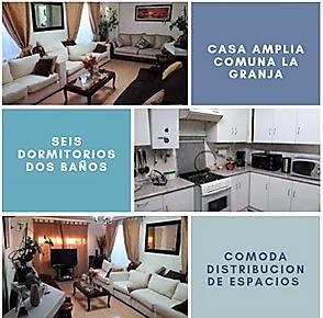 Venta casa ampliada 6 dormitorios comuna La Granja