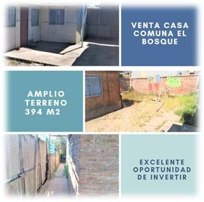 VENTA CASA CON LOCAL COMERCIAL EN COMUNA DE EL BOSQUE